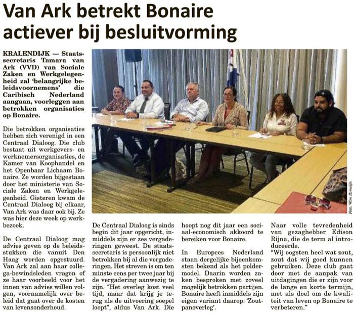 Amigoe04102019_Van-Ark-betrekt-Bonaire-actiever-bij-besluitvorming